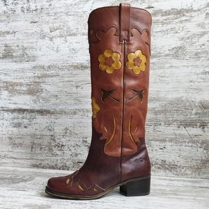 Lucky Brand 🍀 Leather Boho Cowboy Boot